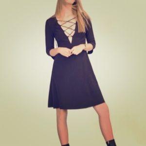 Zara lace front dress